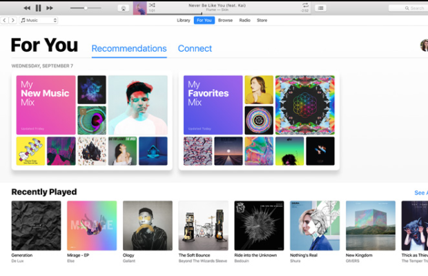 Apple iTunes Screenshot for Windows10