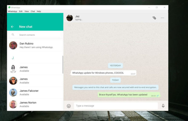 WhatsApp Screenshot for Windows10
