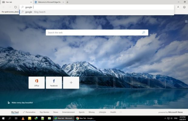 Microsoft Edge Screenshot for Windows10