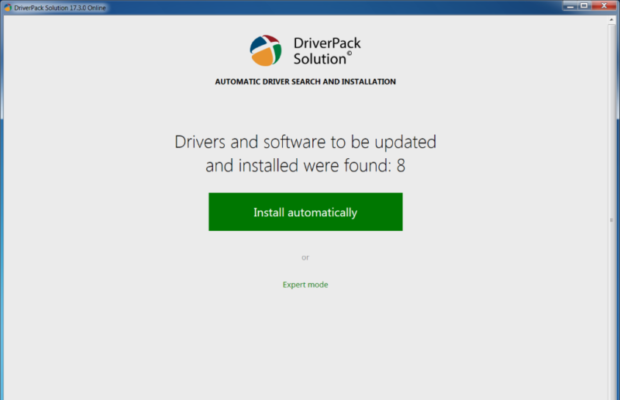 DriverPack Solution Screenshot for Windows10