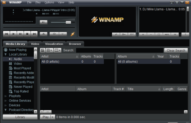 Winamp Screenshot for Windows10