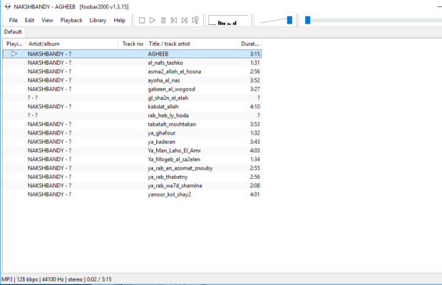 foobar2000 Screenshot for Windows10