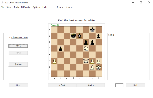 900 Chess Puzzles Screenshot for Windows10