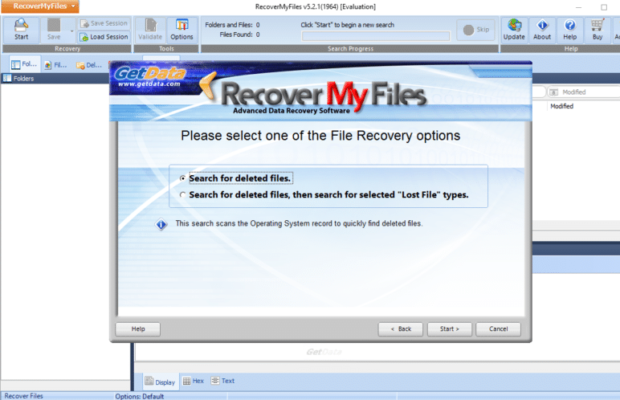 Recover My Files Screenshot for Windows10