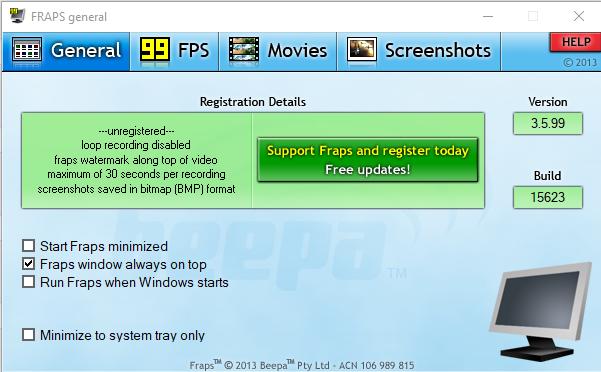Fraps Screenshot for Windows10