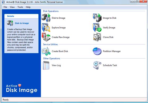 Active@ Disk Image Screenshot for Windows10