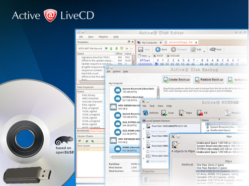 Active@ LiveCD (Boot Disk) Screenshot for Windows10