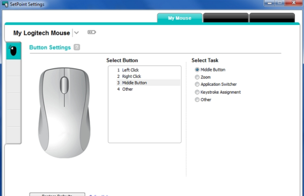 Logitech SetPoint Screenshot for Windows10
