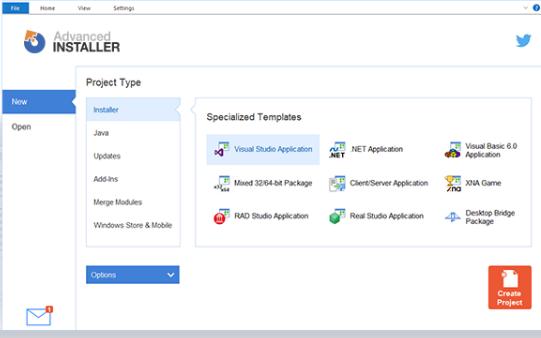 Advanced Installer Screenshot for Windows10
