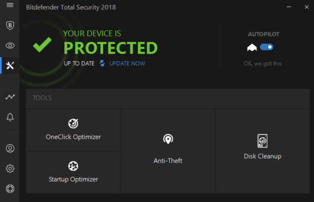 Bitdefender Total Security Screenshot for Windows10