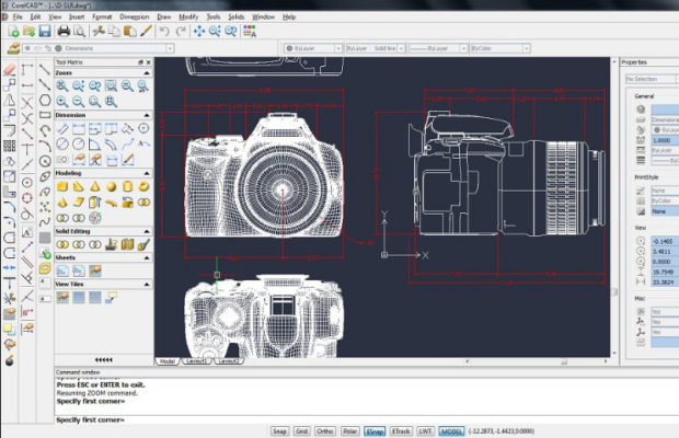 CorelCAD Screenshot for Windows10