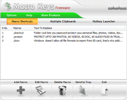 Macro Keys Screenshot for Windows10