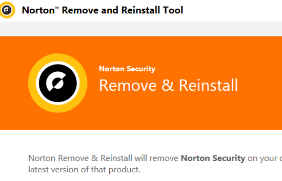 Norton Remove and Reinstall Tool Screenshot for Windows10