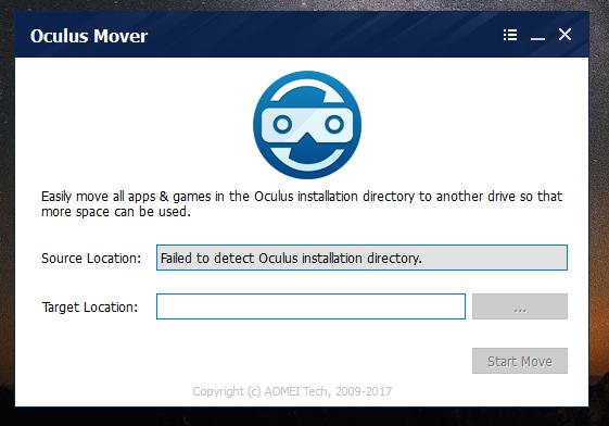 Oculus Mover Screenshot for Windows10