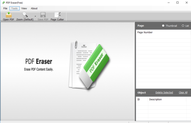 PDF Eraser Screenshot for Windows10