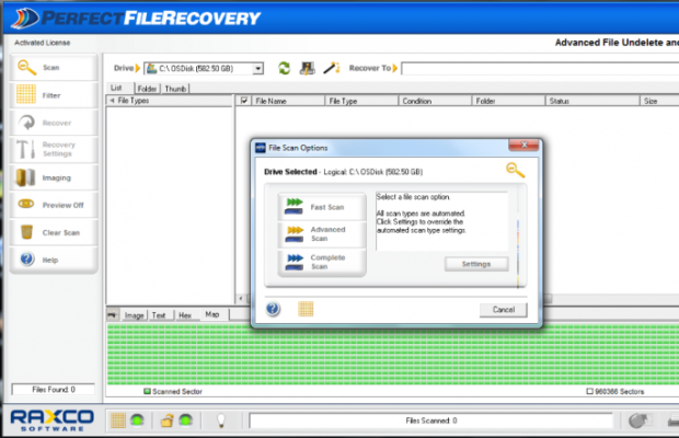 PerfectFileRecovery Screenshot for Windows10