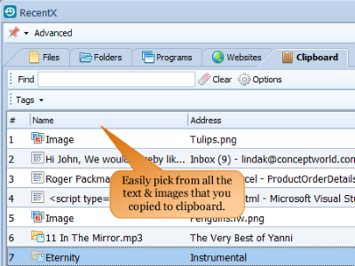 RecentX Screenshot for Windows10