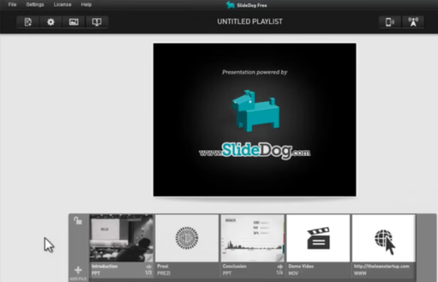 SlideDog Screenshot for Windows10