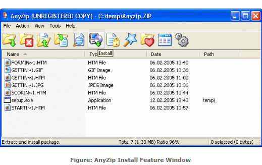 AnyZip Screenshot for Windows10