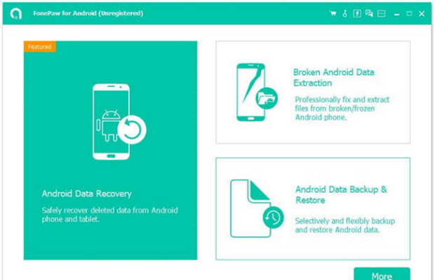 FonePaw Android Data Recovery Screenshot for Windows10