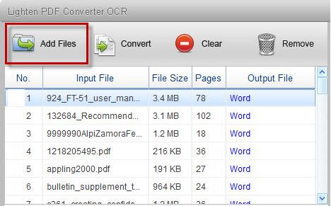 Lighten PDF Converter OCR Screenshot for Windows10