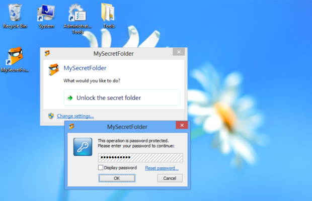 MySecretFolder Screenshot for Windows10