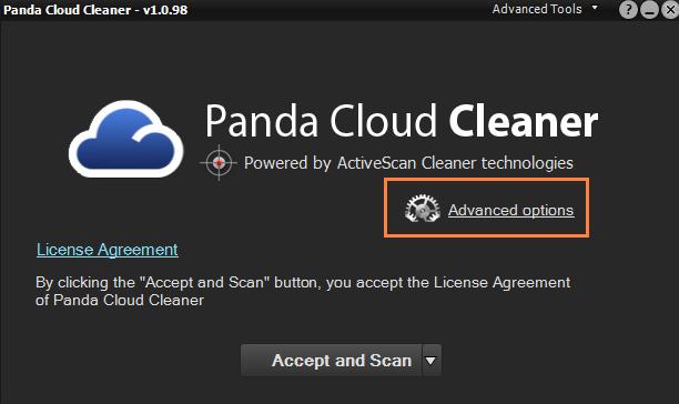 Panda Cloud Cleaner Screenshot for Windows10