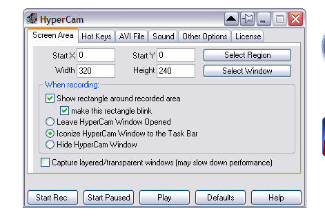HyperCam Screenshot for Windows10