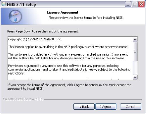 NSIS Screenshot for Windows10