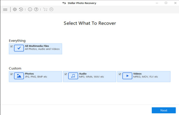 Stellar Photo Recovery Screenshot for Windows10