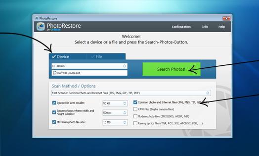 Uniblue PhotoRestore Screenshot for Windows10