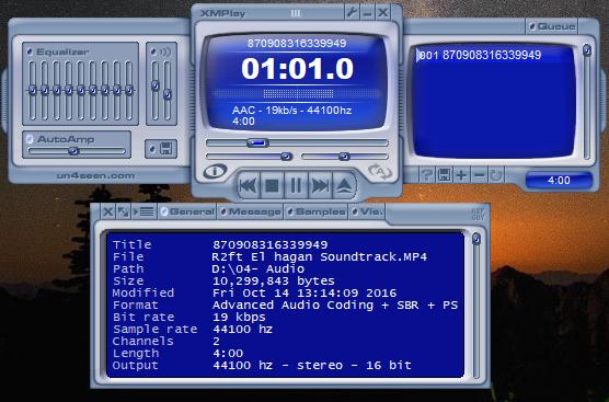 xmplay Screenshot for Windows10