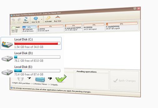 IM-Magic Partition Resizer Free Screenshot for Windows10