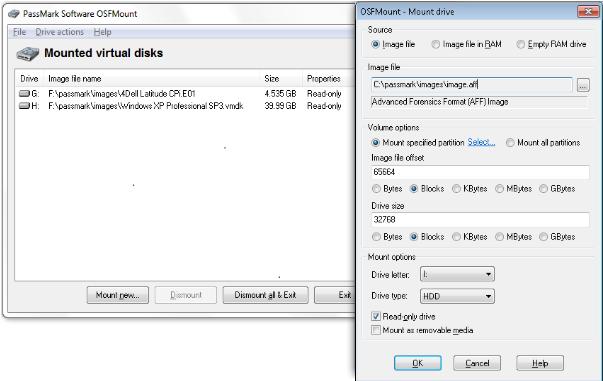 OSFMount Screenshot for Windows10