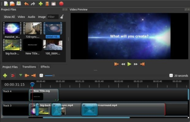 OpenShot Video Editor Screenshot for Windows10