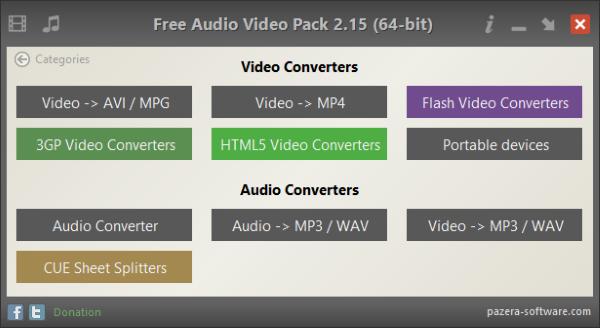 Pazera Free Audio Video Pack Screenshot for Windows10