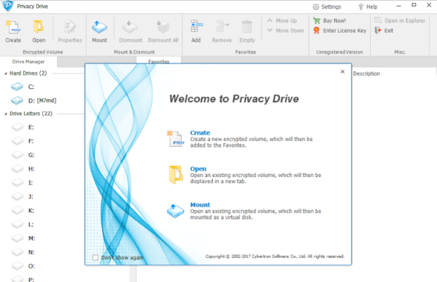 Privacy Drive Screenshot for Windows10