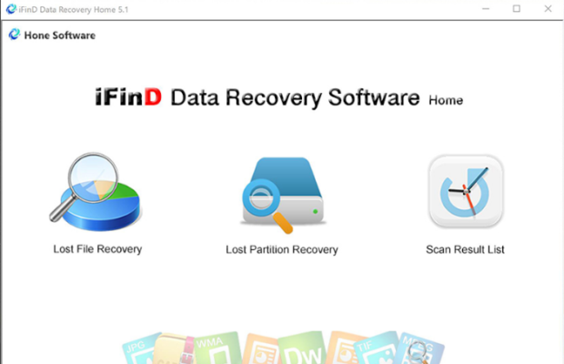 iFind Data Recovery Screenshot for Windows10