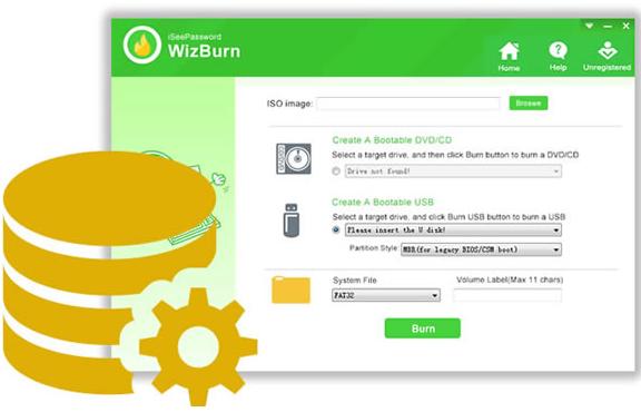 iSeePassword WizBurn Screenshot for Windows10
