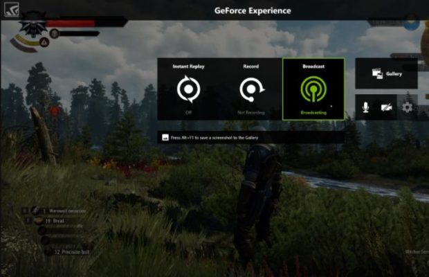 Nvidia ShadowPlay Screenshot for Windows10