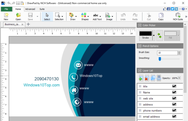 DrawPad Graphic Editor Screenshot for Windows10